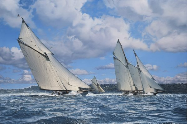 Classics racing off the Royal Squadron