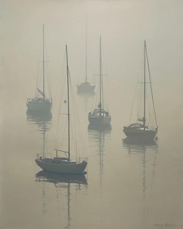 Misty Morning At Greenbank