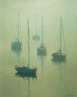 Misty Morning At Greenbank
